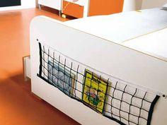 sports storage net... Boys Bedroom Sets, Kids Bedroom, Bedroom Ideas, Sports Storage, Baby Boy Nurseries, Boy Room, Decoration, Storage Ideas, Basketball