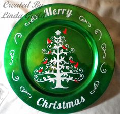 Nothin' Fancy: Snow Tree Charger Plate