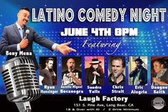 #Thisfunktional #Comedy: #LatinoComedyNight at the #LaughFactory #LongBeach June 4 8 p.m. Come out and have some good laughs with great comedians. #ThisfunktionalComedy #ComedyNight #BenyMena #RyanHasinger #AurellaMiguelBocanegra #SandraValls #ChrisStrait #EricAlegria #DaugneKeith http://ift.tt/1MRTm4L