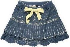 Receitas de Crochet: Saia linda de croche