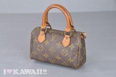 Authentic Louis Vuitton Monogram Mini Speedy Cosmetic Bag M41534