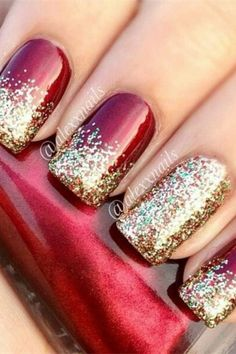 공예 # Weihnachten Herbal Hair Loss Remedies That Offer Hope Herbs h Christmas Manicure, Holiday Nail Art, Prom Nails, Long Nails, Nail Art Designs, Coffin Nails Designs Summer, Nailart, Maroon Nails, Nail Polish
