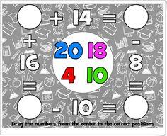 """""""Cuadrado matemático"""" (Juego de igualdades) E Mc2, Positivity, Math, Ideas, Mental Calculation, Algebra Games, Maths Area, Teaching Resources, Equality"""