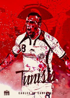 Tunisia : نسور قرطاج = Eagles of Carthage! World Cup 2018 Teams, Fifa World Cup, Sydney Leroux, Mens World Cup, Fifa Teams, World Cup Russia 2018, Team Cap, Football Design, Soccer Party