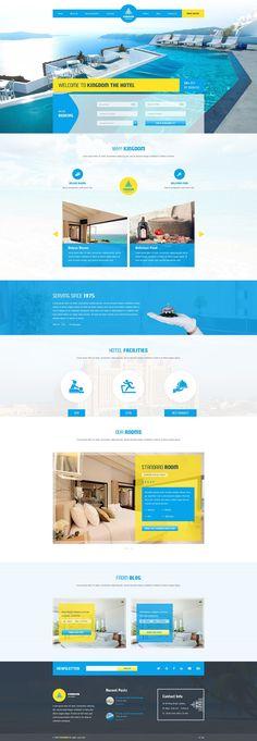 Hotel Website Themes #DESIGNS #WORDPRESS