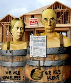 American Gothic Painting - Adapt a famous work of art to depict a current event or social issue.