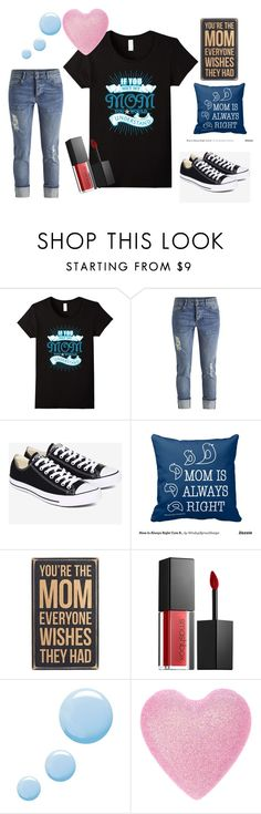 """""""If You Met My Mom You's Understand"""" by sonya-bernhart on Polyvore featuring Converse, Smashbox and Topshop"""