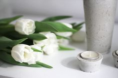 worry about it later: diy: concrete vases and candle holders Candle Holders, Diy Concrete, Candles, Vases, Interior, Candlesticks, Indoor, Jars, Candelabra