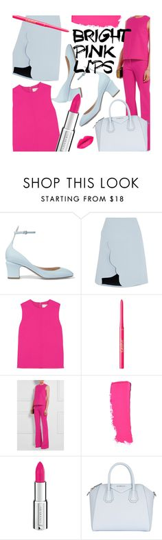 """Bright Pink Lipstick"" by pisces7 ❤ liked on Polyvore featuring Valentino, Carven, Victoria, Victoria Beckham, tarte, Chanel, Givenchy, LIPSTICK, bright and pinklips"
