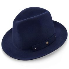 Journey Walrus Hats Navy Wool Felt Fedora Crushable Hat ce22ce7dbfe5
