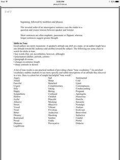 Handout For Students For Rhetorical And Literary Analysis