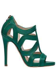 Elie Saab 2014 Spring/Summer. I love the colour, the strapping design, and the heel height. Fantastic.