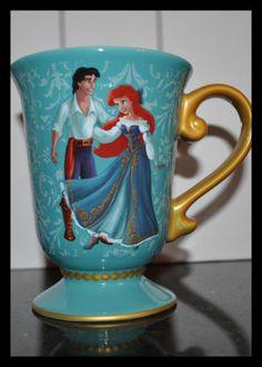 Disney Designer Fairytale Couples Mug The Little Mermaid Ariel Prince Eric | eBay