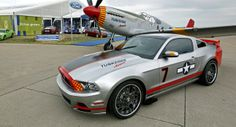 """2013 Ford Mustang GT """"Red Tail"""" Special Inspired by WWII P-51 Mustang Fighter Aircraft - Carscoop"""