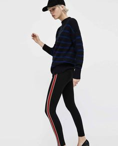 Mode femme petite taille - legging à bandes - La petite Allure