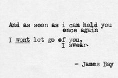 Scars//James Bay Lyrics