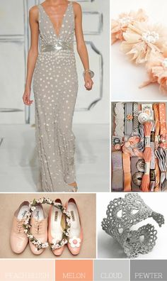 Ooooh...I love the peach and gray together...with some white! How prettty!