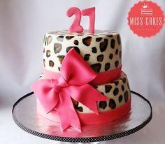 Femmel Cake, Tortas Femeninas, Animal Print, pink