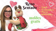 Como Hacer Un Reno Sentado con pocos materiales y moldes gratis - YouTube Crochet Hats, Youtube, Gnome, North Pole, Videos, Crochet Ornaments, Creative Crafts, Christmas Patterns, Knitting Hats