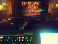 View from sound FOH - Buxton Opera House, The Secret Garden musical concert tour, November 2013