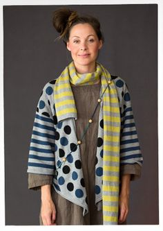 Striped cotton scarf – 50% off sale prices – GUDRUN SJÖDÉN – Webshop, mail order and boutiques   Colourful clothes and home textiles in natural materials.