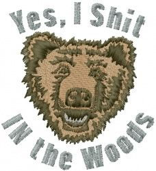 In the Woods embroidery design