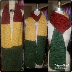 $25 gets you this scarf and my #ras Red Gold and Green scarf and my gratitude. #wordpress #crochet Red Gold, Gratitude, You Got This, Wordpress, Fashion Accessories, Crochet, Green, Design, Grateful Heart