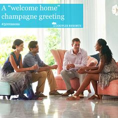 Welcome home champagne greeting #Couples Resorts #Jamaica  http://c.oupl.es/1g5FFze