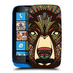 Aztec Design Animal Loup Couverture Étui Rigide Nokia 5 bv0mUvJ