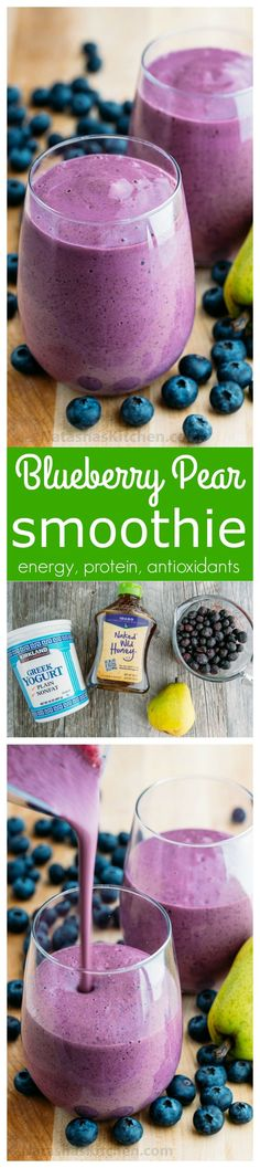 Blueberry Pear Smoothie