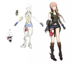 FFXIII-2 Serah Exposure & Defense Costume, bag and gloves are similar to Lightening's from FFXIII