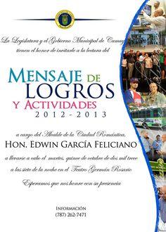 Mensaje de Logros y Actividades 2012-2013 @ Teatro Germán Rosario, Camuy #sondeaquipr #teatrogermanrosario #camuy #mensajedelogros