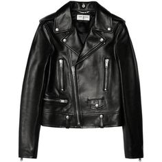Saint Laurent Leather Biker Jacket as seen on Rosie Huntington-Whiteley