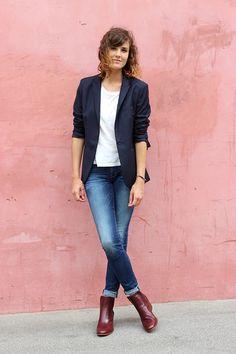 6e2de409eaf3 31 meilleures images du tableau Veste bleue   Womens fashion, Casual ...