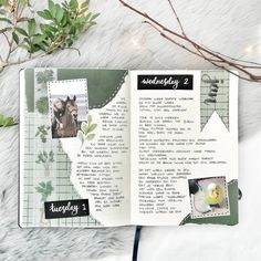 Incorporate your pet in your page with the theme color green. December 06 2019 at AM Bullet Journal Notebook, Bullet Journal School, Bullet Journal Spread, Bullet Journal Ideas Pages, Bullet Journal Inspiration, Art Journal Pages, Notebook Art, Journal Prompts, Journals