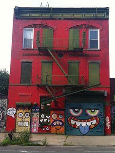 Want to move here. brooklyn, williamsburg, street art, bibrib, impulsivcloth