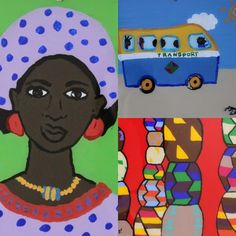 Senegalese Reverse Glass painting for kids