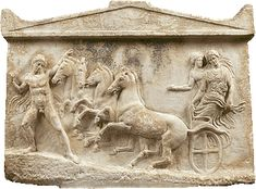 Marble votive relief, found in Neon Phaleron, Attica  ca. 410 BC.