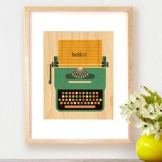 Typewriter Print on Wood #laylagrayce