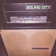 908242bc255 My Sound City 50 Plus Head with 4x12 Fane speakers Cabinet. I just love it