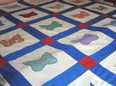 1940s Cotton Hand Pieced Quilt Top with by VictorianWardrobe