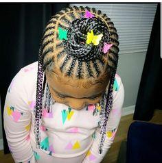 Cornrows For Little Girls, Little Girls Natural Hairstyles, Little Girl Braid Styles, Toddler Braided Hairstyles, Little Girl Braid Hairstyles, Black Kids Hairstyles, Baby Girl Hairstyles, Trending Hairstyles, Kids Cornrow Hairstyles