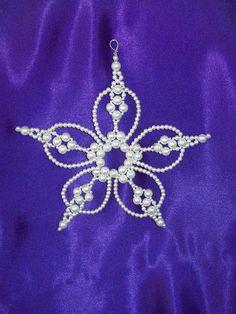 Pearl Bethlehem Star Chrismon-style Ornament Bead Kit - heirloom quality beads. $7.50, via Etsy.