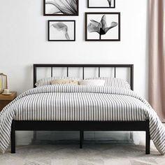 informativ Thelen Full Platform Bed, The basic elements used Furniture, Bed Design, Bedroom Design, Bed Furniture, Bedroom Furniture, Full Platform Bed, Bed Frame, Bedroom Vintage, Top Beds