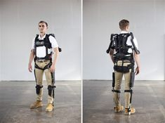 """Powered exoskeletons, wearable robotics, passive exosuits, and """"powered clothing"""" are bringing Iron Man's armor down to earth — and maybe into your closet. Exoskeleton Suit, Powered Exoskeleton, Mobility Aids, Science Fiction Books, Marvel Films, Military Women, Injury Prevention, Change The World, Iron Man"""