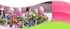 Bloemenvaas Kinderfeestje van de maand juni, juli, augustus | Zomerbloemen pluk tuin