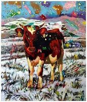 by Michelle Nigrini Art, Moose Art, Painting