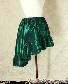 Steampunk High Low Mini Cecilia Skirt Forest by VeneficaCorsetry