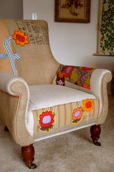This is a very good blog that includes some really awesome upholstery ideas: modhomeec