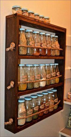 Rustic Wooden Spice Rack – rustic home diy